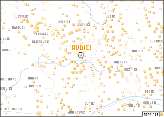 map of Avdići