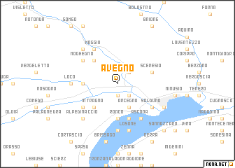 map of Avegno