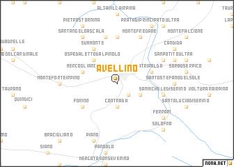 Avellino (Italy) map   nona.net