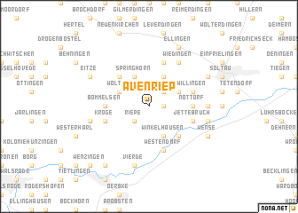 map of Avenriep