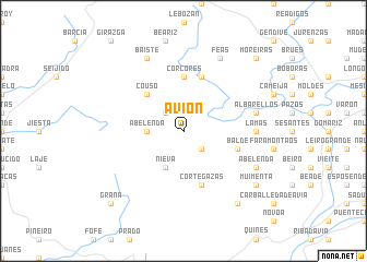 map of Avión