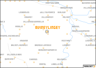 map of Avirey-Lingey
