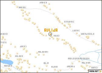 map of Avlija