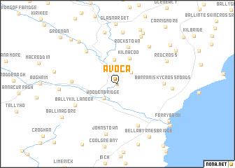 Avoca (Ireland) map   nona.net