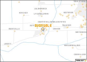 map of Avondale