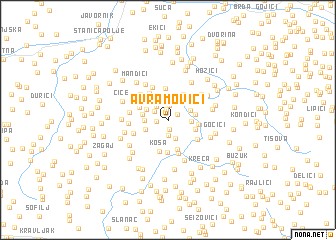 map of Avramovići