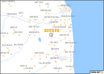 map of Avrora