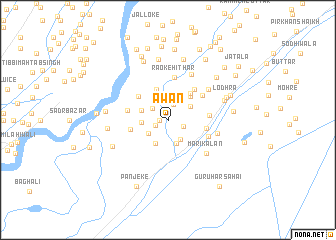 map of Awān