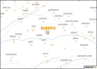 map of Āw Bārīk
