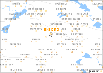 map of Axlarp