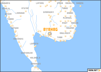 map of Ayahag