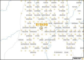 map of Ayakpa