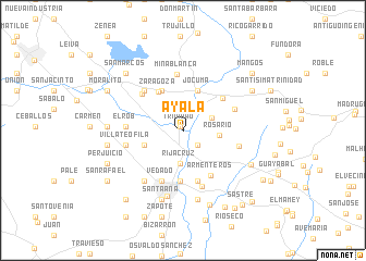 map of Ayala