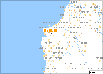 map of Ayaoan