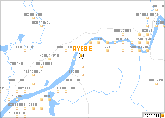 map of Ayébé