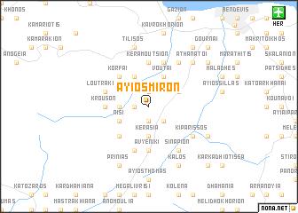 map of Áyios Míron