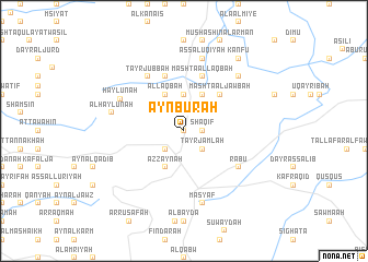 map of 'Ayn Būrah