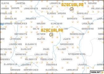 map of Azacualpa