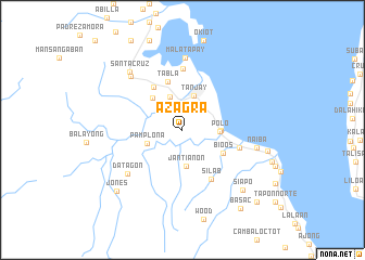 map of Azagra