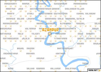 map of Āzampur