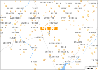 map of Azemmour