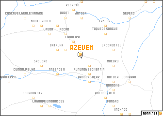 map of Azevém