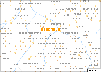 map of Azhdarlū