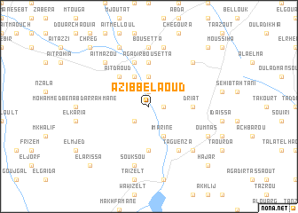 map of Azib Bel Aoud