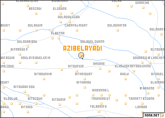 map of Azib el Ayadi