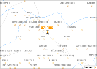 map of Azinhal
