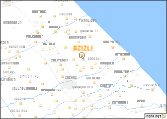 map of Azizli