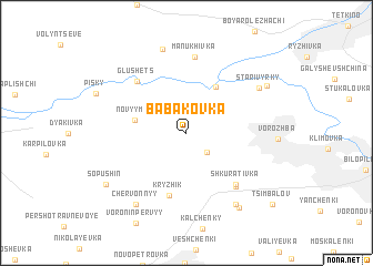 map of Babakovka