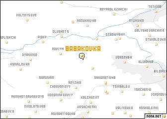 map of Babakovka