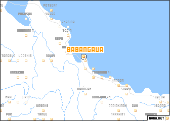 map of Babangaua