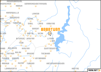 map of Babatuan