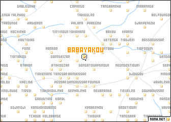 map of Babayakou