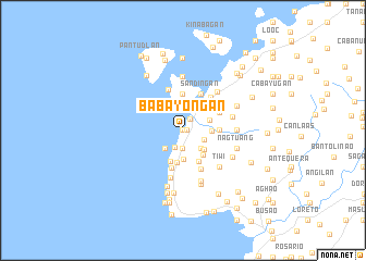 map of Babayongan