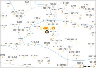 map of Bābgūrī