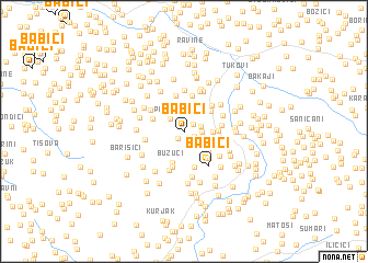map of Babići