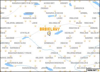 map of Babie Ławy