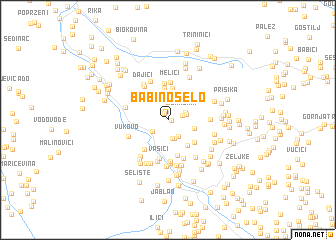 map of Babino Selo
