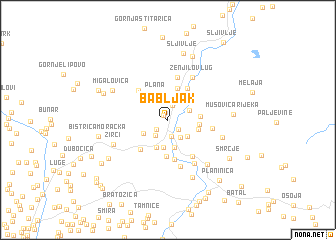 map of Babljak