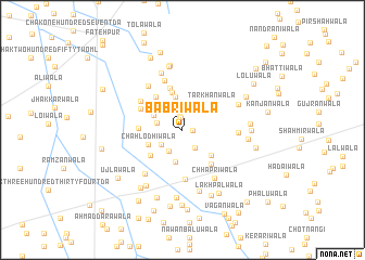 map of Babriwāla