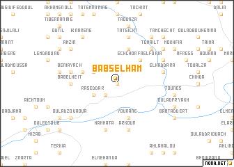 map of Bab Selham