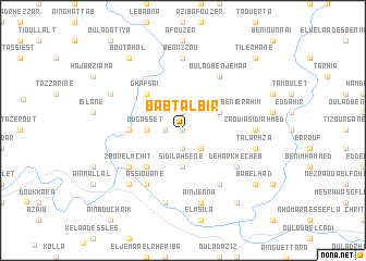 map of Babt al Bir