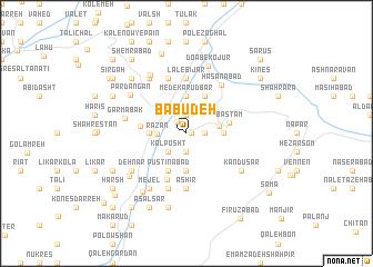 map of Bābū Deh