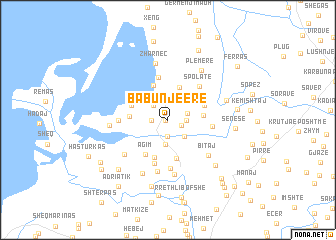 map of (( Babunjë e Re ))