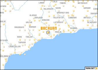 map of Bacauan