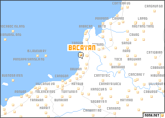 map of Bacayan