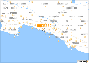 map of Bacezza
